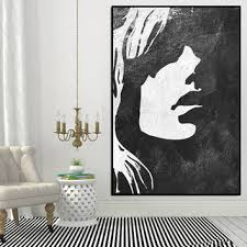 art for walls girl silhouette abtract painting large extra large abstract acrylic wall art