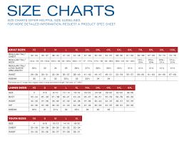 Zipper Size Chart Polar Fleece Jacket