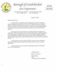 Conshohocken Fire Department Thank You Letter 2 Morethanthecurve