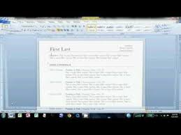 How To Make Resume On Microsoft Word 2010 How To Make An Easy Resume In Microsoft Word 2010 Job Tips