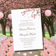 cherry blossom printable wedding invitations editable word doc