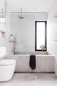 a large shower with multiple headaybe a built in bench sounds dreamy we also have plans to add a privacy window in the bathroom