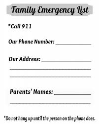 Emergency List Complete List Of Emergency Phone Numbers To Keep Your Kids