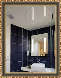 forever art framed wall vanity bathroom makeup non beveled glass mirror with d ring finished size 30 in x 40 in 02 black gold mirr 30x40 02 mr535 70