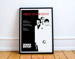 the office poster. FREE SHIPPING** The Office Poster - Threat Level Midnight Office, P