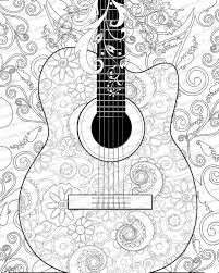 2400x3000 guitar coloring pages for adults sunset coloring pages for adults