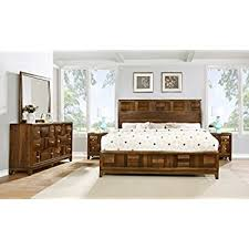 real wood bedroom furniture. roundhill furniture calais solid wood construction bedroom set with bed, dresser, mirror, 2 real
