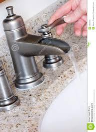 Modern Bathroom Taps Modern Bathroom Taps In Brushed Nickel Stock Photo Image 22852420