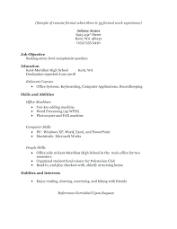 Resume No Job Experience Sample Resume Work Experience Tomyumtumweb 48