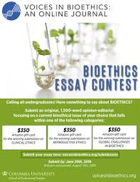 essay contests voices in bioethics aug 19 2016 essay contest winners · voices in bioethics