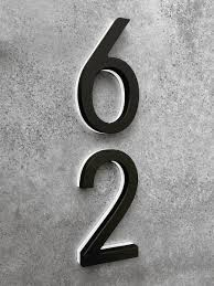 modern black lighted house numbers 8