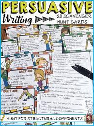 best opinion essay structure ideas persuasive persuasive opinion writing structural components scavenger hunt