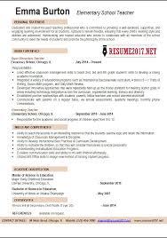 Elementary Teacher Resume Examples Magnificent Elementary School Teacher Resume Template Elementary Teacher Resume
