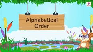 Alphabetical Order How To Arrange Words In Alphabetical Order English Grammar