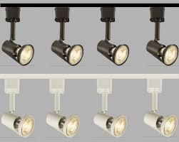 knightsbridge track lighting set kit spotlight gu10 led spot light display