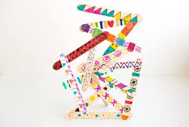 Image Creative Hello Wonderful Easy Popsicle Stick Art Sculptures With Kids