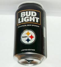 Steelers Bud Light Cans For Sale 2017 Pittsburgh Steelers Nfl Kickoff Bud Light Beer Can Team Sports Fan Football