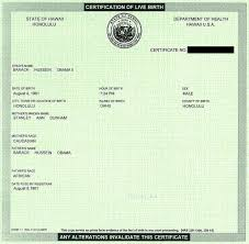 barack obama birth certificate as they had the certification of live birth