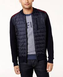 Tommy Hilfiger Men's Petric Quilted Bomber Jacket - Sweaters - Men ... & Tommy Hilfiger Men's Petric Quilted Bomber Jacket - Sweaters - Men - Macy's Adamdwight.com