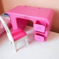 Diy barbie doll furniture Plan Free Of Pink Bed Dressing Table Chair Set Barbie Doll Furniture Bedroom Toy Seller Diy Pinterest Artsy Fartsy Mama Decoration Of Pink Bed Dressing Table Chair Set Barbie Doll