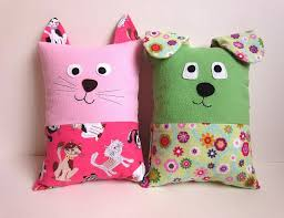 Pattern Dog and Cat Tooth Fairy Pillows by myfunnybuddy