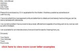 cover letter sample for waitress position 1 cover letter examples for waitress