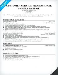 Call Center Customer Service Representative Resume From Customer