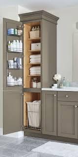 Linen Cabinets For Bathroom Cool Granite Contertop Brown Laminated ...