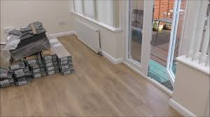 replaced my conservatory and kitchen floor with new laminate flooring