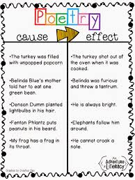 Casue And Effect Cause And Effect With Poetry Adventures In Literacy Land