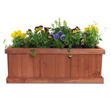 pennington  in x  in wood planter box  the home depot