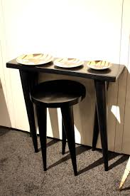 table for kitchen: tall narrow table and weendu stool