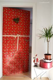 Door Wrapping Christmas Front Doorwrapping Paper Or Fabric To
