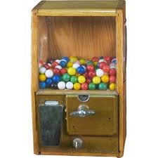 Small Vending Machines Ebay Beauteous Victor Wood Sided CoinOp Gumball Vending Machine