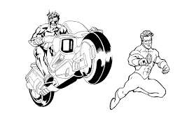 Small Picture Free Printable Green Lantern Coloring Pages For Kids
