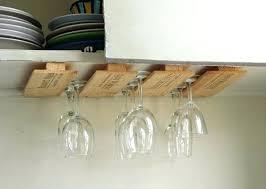diy wine glass rack ideas holder under cabinet