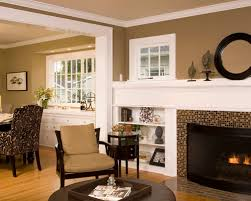 ... Nice Colors For Living Room Walls Elegant Living Room Photo In Seattle  With A Tile Fireplace ...