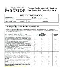 Examples Of Performance Review Self Performance Evaluation Template Performance Review