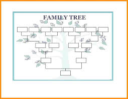 generation family tree template excel awesome 6 templates 10 free printable chart