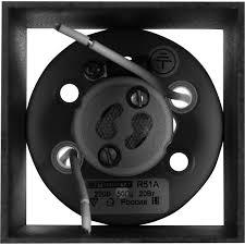 <b>Светильник накладной</b> квадратный, GU10, 8 см, цвет чёрный в ...
