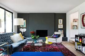 painted brick wall in gray for the contemporary home design stuart sampley architect