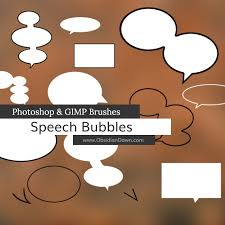 Photoshop Speech Bubble Speech Bubbles Photoshop And Gimp Brushes By Redheadstock On