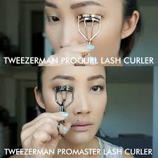 tweezerman eyelash curler. tweezerman procurl lash curler vs promaster demo eyelash curler l