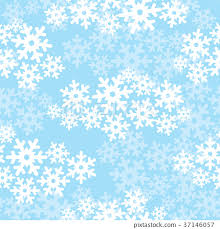 Snow Seamless Pattern Winter Holiday Background Stock