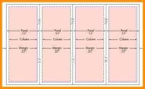 Quad Fold Brochure Template Word 4 Fold Brochure Template Word Rafaelfran Co