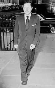 tennessee williams williams arriving at funeral services for dylan thomas 1953