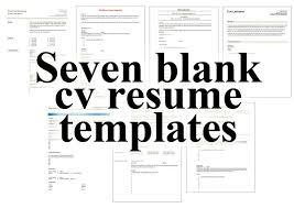 Free Resume Print And Download Blank Resume Templates To Print Free Resume Templates To