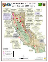 california fires map from cal fire  oes  firefighter blog