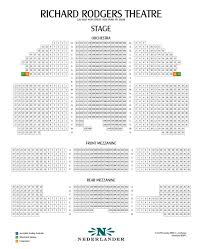 Richard Rogers Seating Chart Richard Rodgers Theater Interactive Seating Chart Www