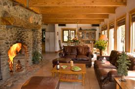 Open Stone Fireplace Living Room Living Room With Stone Fireplace Decorating Ideas